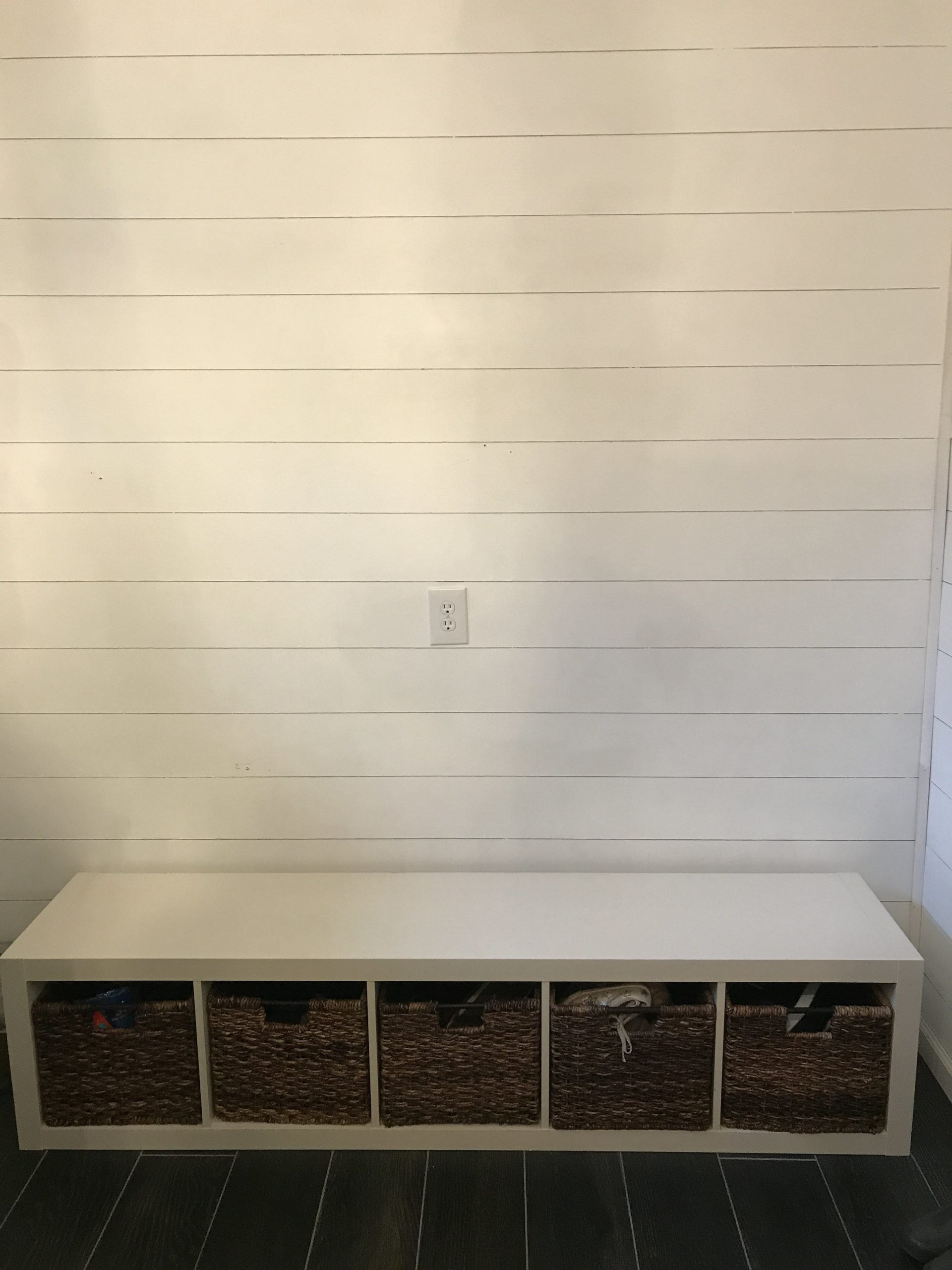 Ikea Hack Diy Mudroom Bench Built In Dreaming Of Homemaking