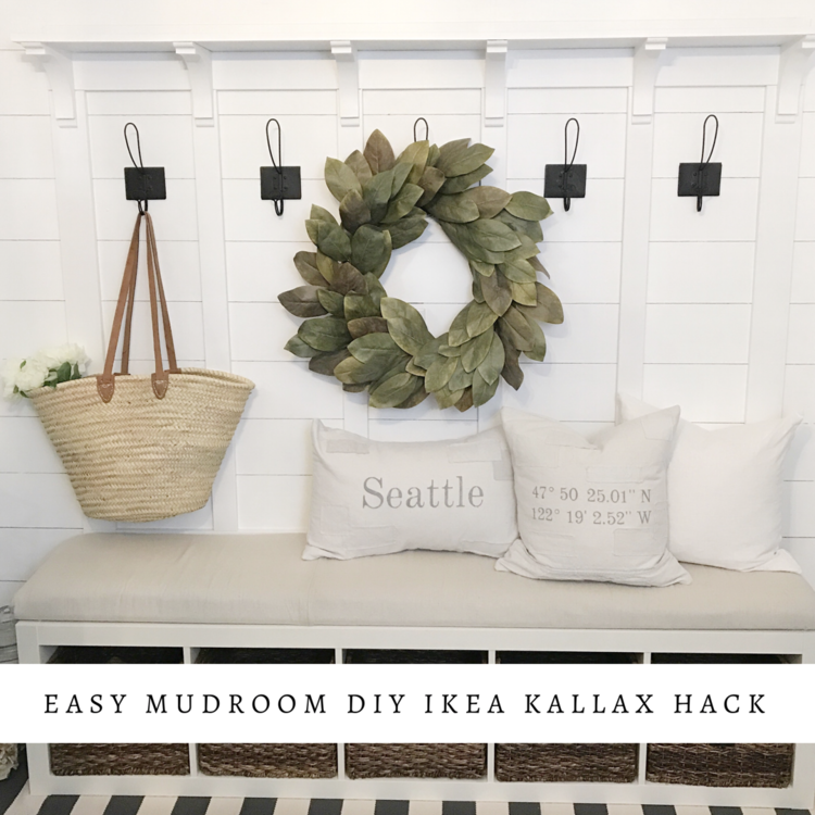 {Ikea Hack} DIY - Mudroom Bench Built In!