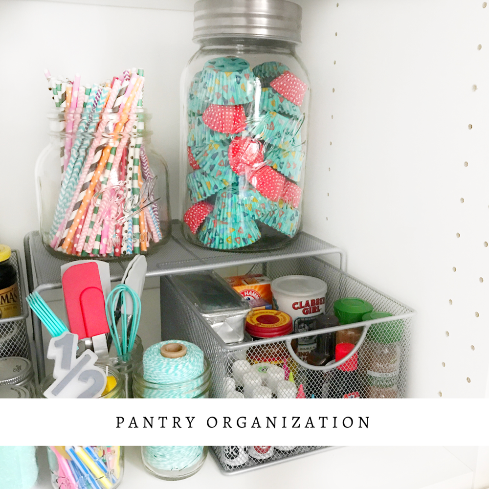 Before/After Pantry Organization