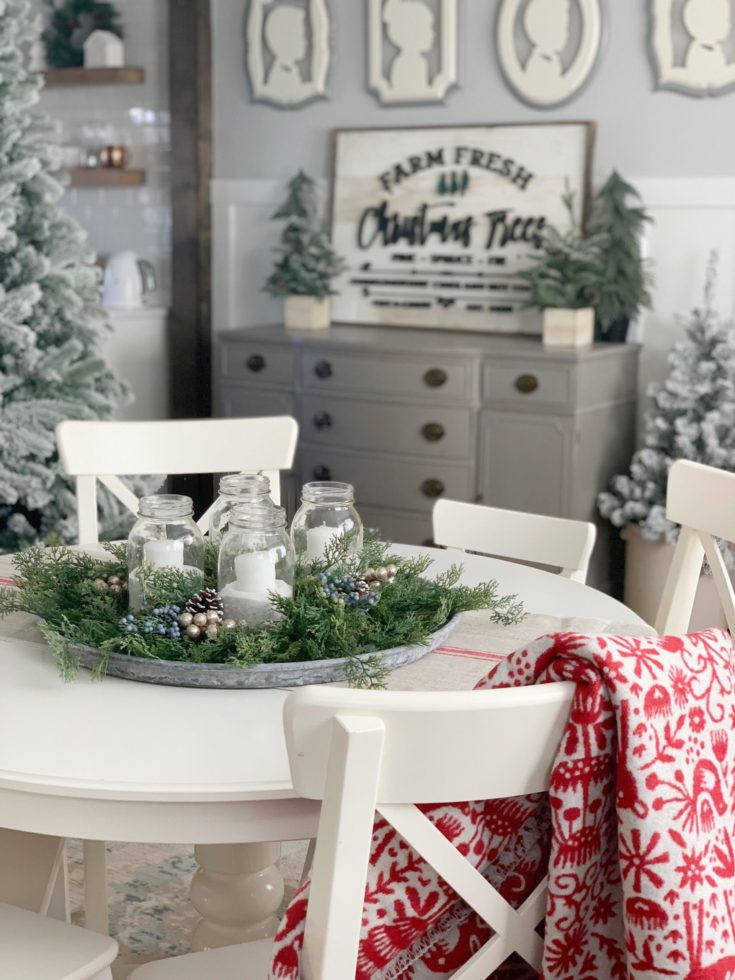 Easy DIY Advent Centerpiece with JOANN - Dining Room Tour