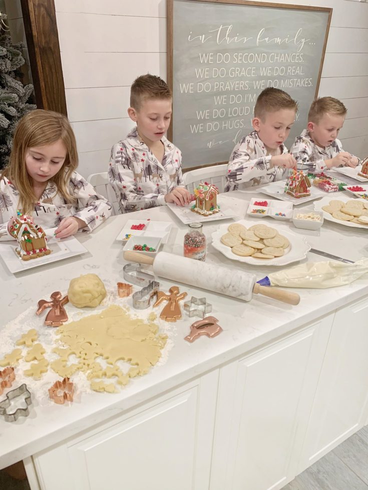 Family Pajama Night - Baking Fun!