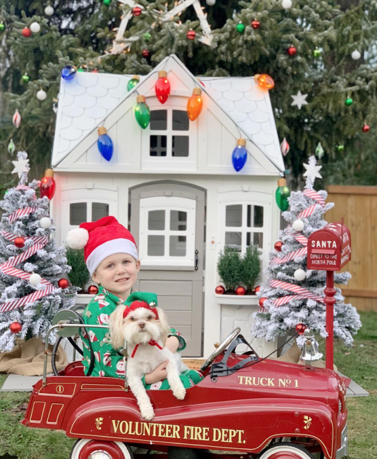 Christmas Playhouse and Tree Decorating with JOANN
