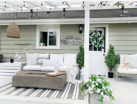 Coastal Cottage Inspired Deck with JOANN