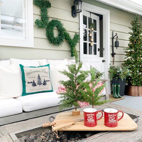 Christmas Deck + Favorite Gold Spray Paint