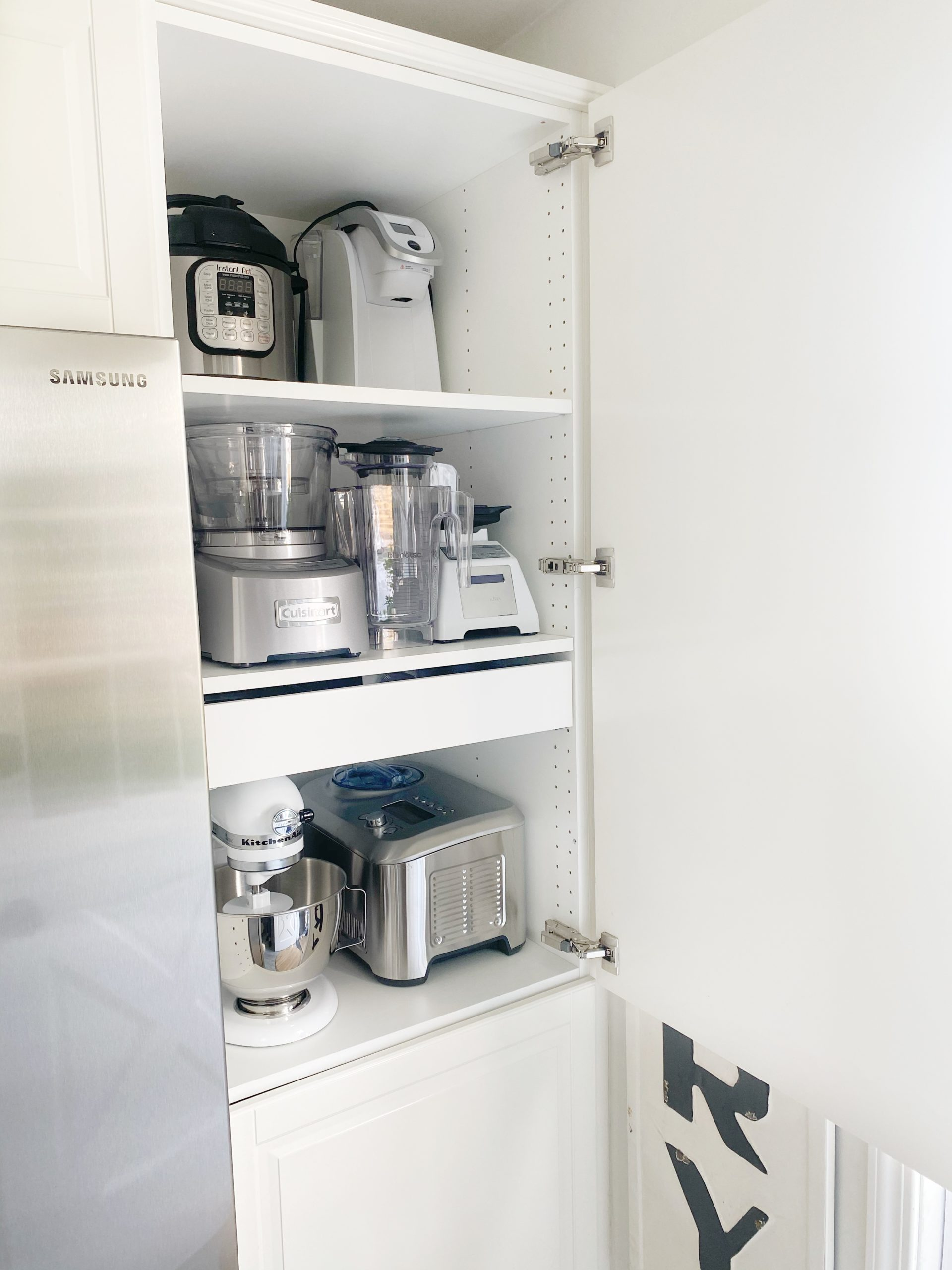 Small Kitchen Appliance Storage Dreaming Of Homemaking