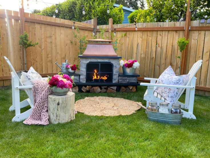 EASY Outdoor Fireplace