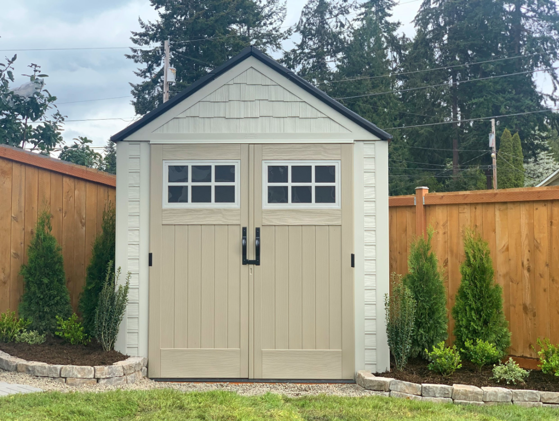 Rubbermaid Outdoor Storage Shed, How To Hang Things In A Garden Shed
