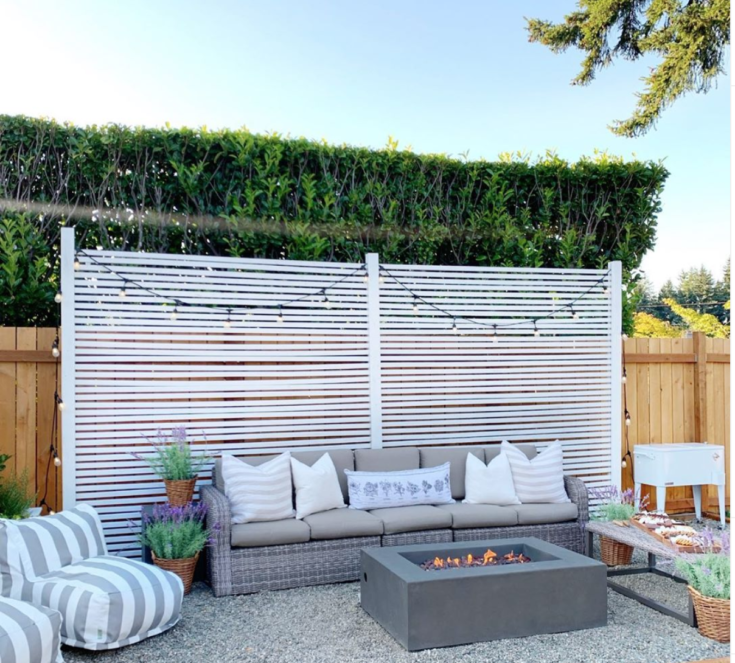 EASY DIY PRIVACY SCREEN / FENCE
